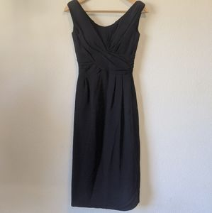 Vintage Jay Herbert chiffon twist wiggle dress